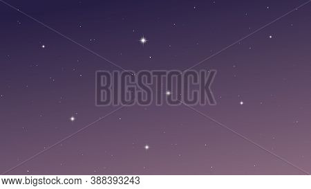 Night Sky With Many Stars. Abstract Nature Background With Stardust In Deep Universe. Vector Illustr