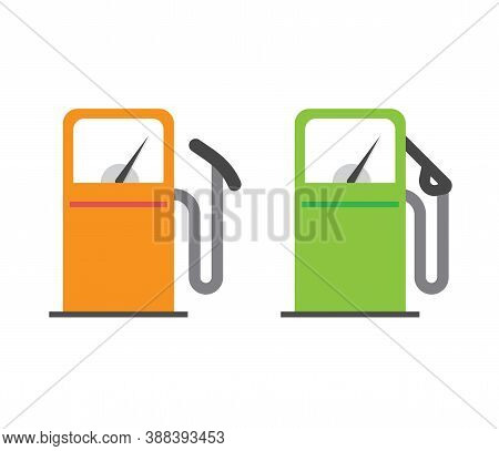 Gas Petrol Station Icon Vector, Gasoline Fuel Refill Oil Pump Sign Symbol Flat Cartoon Isolated Pict
