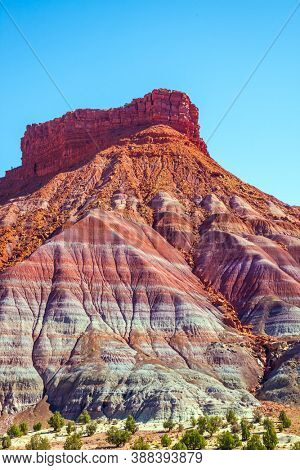 USA. Arizona, Utah. Grandiose mountains of red sandstone. Paria Canyon-Vermilion Cliffs Wilderness Area. The concept of active, extreme and photo tourism