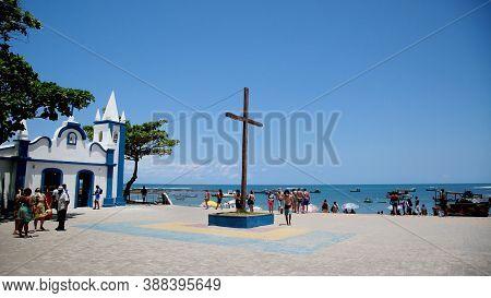 Mata De Sao Joao, Bahia / Brazil - October 4, 2020: View Of The Church Of Sao Francisco De Assis In