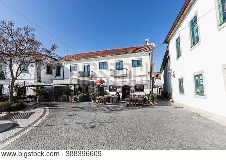 Treet Atmosphere And Architecture In Front Of Bars And Restaurants Of Esposende, Portugal