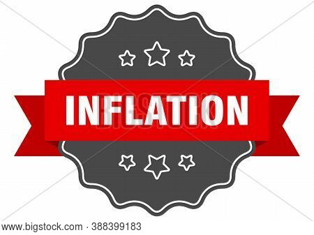 Inflation Label. Inflation Isolated Seal. Sticker. Sign