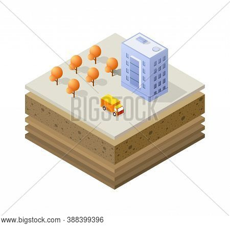 Soil Layers Cross Section Geological Of Urban Environment