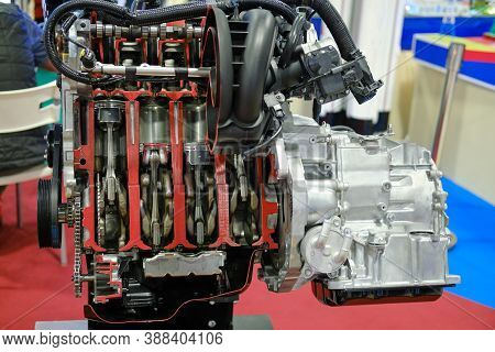 Gasoline Internal Combustion Engine With Four Cylinders