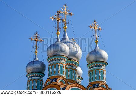 Domes The Church Of St. Gregory Neokesariysky In Dermizax - An Orthodox Church Of Moskvoretsky Deane