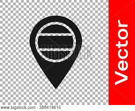Black Location Russia Icon Isolated On Transparent Background. Navigation, Pointer, Location, Map, G