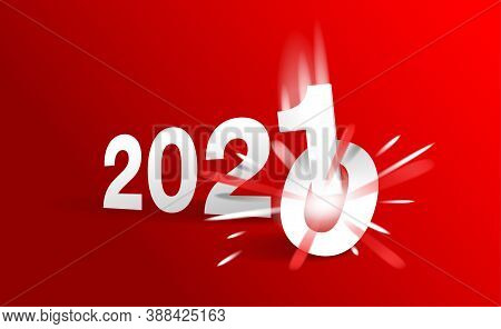 2021 Is Coming - New Year Title Changing From 2020 To Next Year - 0 Is Destroying By 1 Digit - Vecto