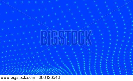 Futuristic Point Wave. Flowing Particle. Big Data. Abstract Wave In White Background. Waves With Par