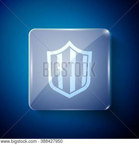 White Shield Icon Isolated On Blue Background. Guard Sign. Security, Safety, Protection, Privacy Con
