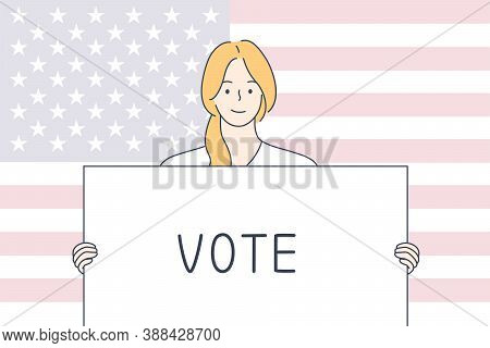 Politics, Election, Usa, Voting Concept. United States Of America Elections 2020 And Ampaign Trail I