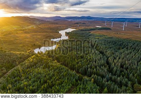 Sunrise Above Maas And Lough Namanlagh In County Donegal - Ireland.
