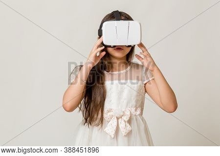 Young Girl In Vr Goggles