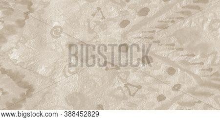 Obsolete Tiki Ornament. Grungy Tribal Ornament. Pale Bohemian Illustration. Craft Texture. Bohemian