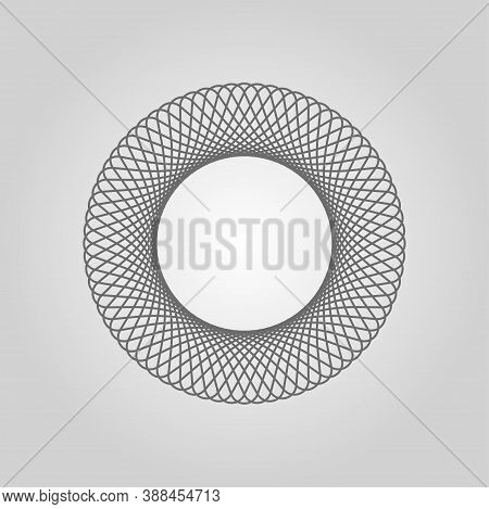Spirograph. Circle Soundwave. Structured Curve Pattern. Ordered Waves. Cosmic Waveform. Star Abstrac