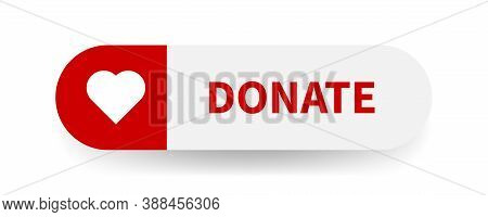 Donate Vector Web Button. Donation Sign On White Background.