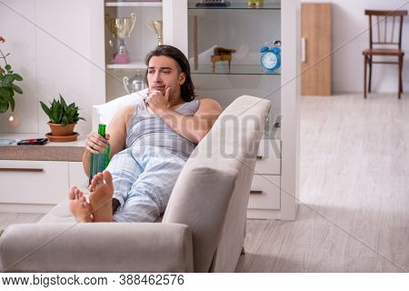Man ex-champion suffering from alcoholism at home