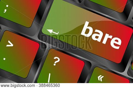 Bare Word On Keyboard Key, Notebook Computer Button