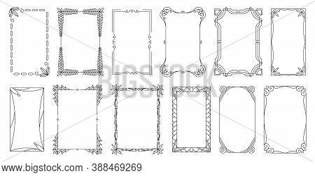 Decorative Frames And Borders Standard Rectangle Proportions Backgrounds. Vintage Design Elements Se