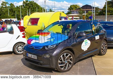 Geneva, Switzerland - June 17, 2016: The Smart Forspeed Fully Electric Concept Car On Wave-2016 Inte