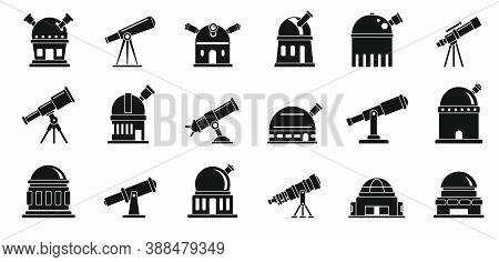 Planetarium Icons Set. Simple Set Of Planetarium Vector Icons For Web Design On White Background