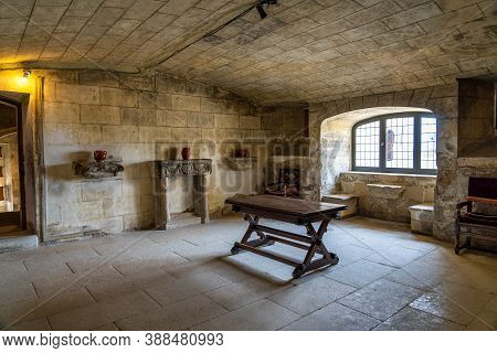 Grignan, France - Sep 21, 2020: Inside View Of The Historic Renaissance Castle In Grignan, France, W