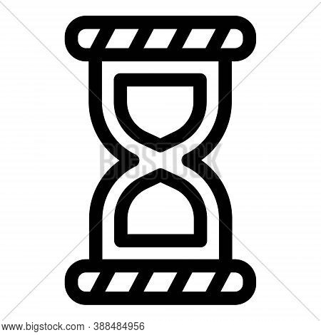 Hourglass Vector Icon. Sand Clock, Sandglass Timer, Vintage And Historical Illustration Of Time, Cou
