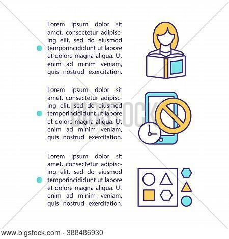 Control Screen Time Concept Icon With Text. Self Discipline. Restrain Yourself. Healthy Lifestyle. P