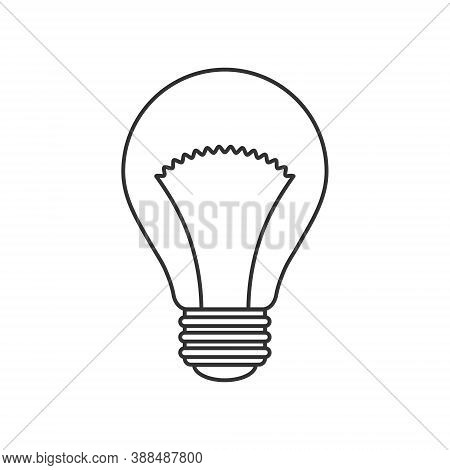Light Bulb Icon. Incandescent Lamp Symbol. Idea And Innovation Sign. Creative Energy Or Inspiration