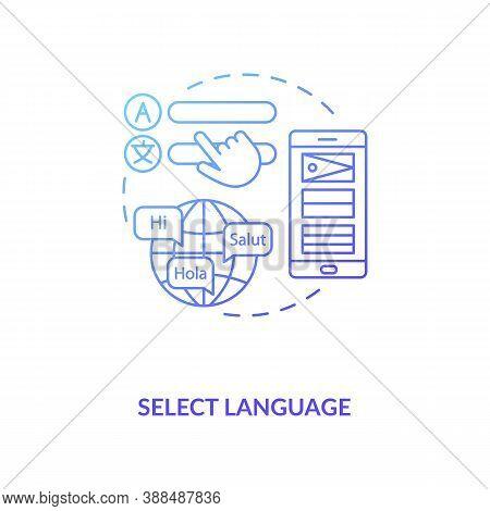 Select Language Concept Icon. Setup Instruction Idea Thin Line Illustration. Change Language Prefere