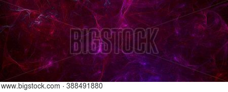Computer Generated Fractal Abstract Background. Bright Lights Abstract Swirls Over Dark Space