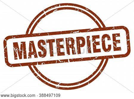 Masterpiece Grunge Stamp. Masterpiece Round Vintage Stamp