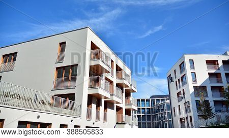 Estate Property And Condo Architecture. Fragment Of Modern Residential Flat With Apartment Building