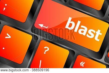 Blast Button On Computer Pc Keyboard Key