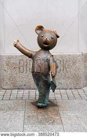 Lodz, Poland - September 26, 2020: Floppy Bear (polish: