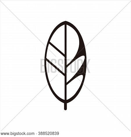 Leaf Icon. Leaf Logo. Nature Leaf Logo. Leaf Symbol Or Vector Icon. Leaf Mark. Leaf Icons. Leaf Vect