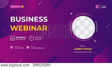 Purple Modern Background, Dynamic And Wave Shapes Composition. Suitable For Web Banner, Business Web