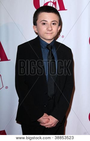 LOS ANGELES - OCT 29:  Atticus Shaffer arrives at the Casting Society of America Artios Awards at Beverly Hilton Hotel on October 29, 2012 in Beverly Hills, CA