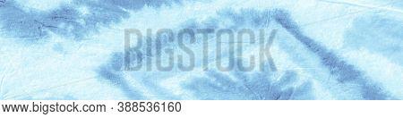 Blue Sky Ogee Design. Tie Dye Shibori. Abstract Aquarel Paint Stains. Dirty Art Texture. Ikat Design