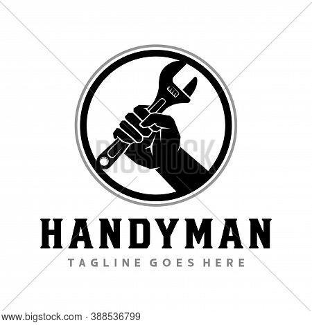 Handyman Logo, Handyman Service Logo Design Vector
