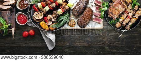 Assorted Grilled Meat With Vegetables