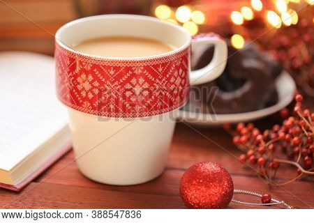 Winter Tea.winter Break And Holidays Time. Cozy Winter Reading. Books For Christmas And New Year.win