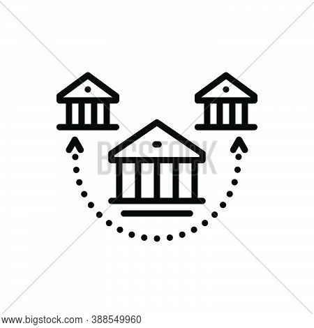 Black Line Icon For Branch Offshoot Bough Division House Choice Subdivision Association Building Arc