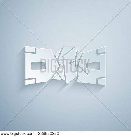 Paper Cut Crumpled Paper Money Cash Icon Isolated On Grey Background. Money Banknotes Stacks. Bill C