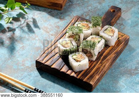Unusual Composition Of Rolls. A Portion Of Rolls With An Unusual Filling.