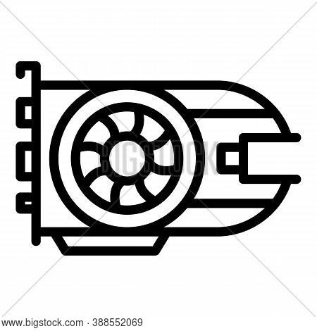 Integrated Gpu Icon. Outline Integrated Gpu Vector Icon For Web Design Isolated On White Background