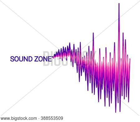 Vector Sound Wave Background. Abstract Electronic Technology Element For Creating Music Poster. Mode