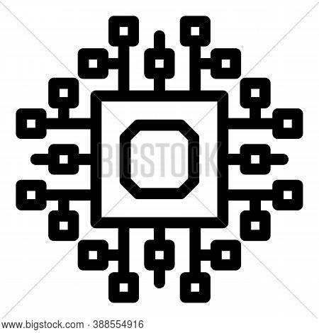 Computer Cpu Icon. Outline Computer Cpu Vector Icon For Web Design Isolated On White Background