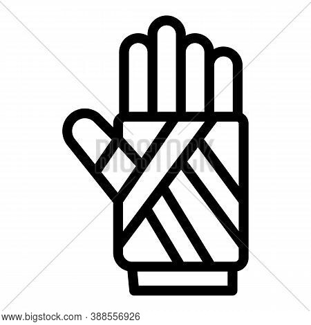 Hand Fracture Icon. Outline Hand Fracture Vector Icon For Web Design Isolated On White Background