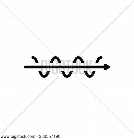 Black Line Icon For Straight Straightforward Simplify Directly  Direct Decision Difficult Complex Co