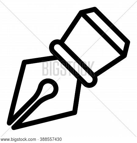 Dip Pen Icon. Outline Dip Pen Vector Icon For Web Design Isolated On White Background